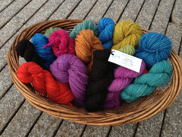 Handspun and hand-dyed Shetland wool