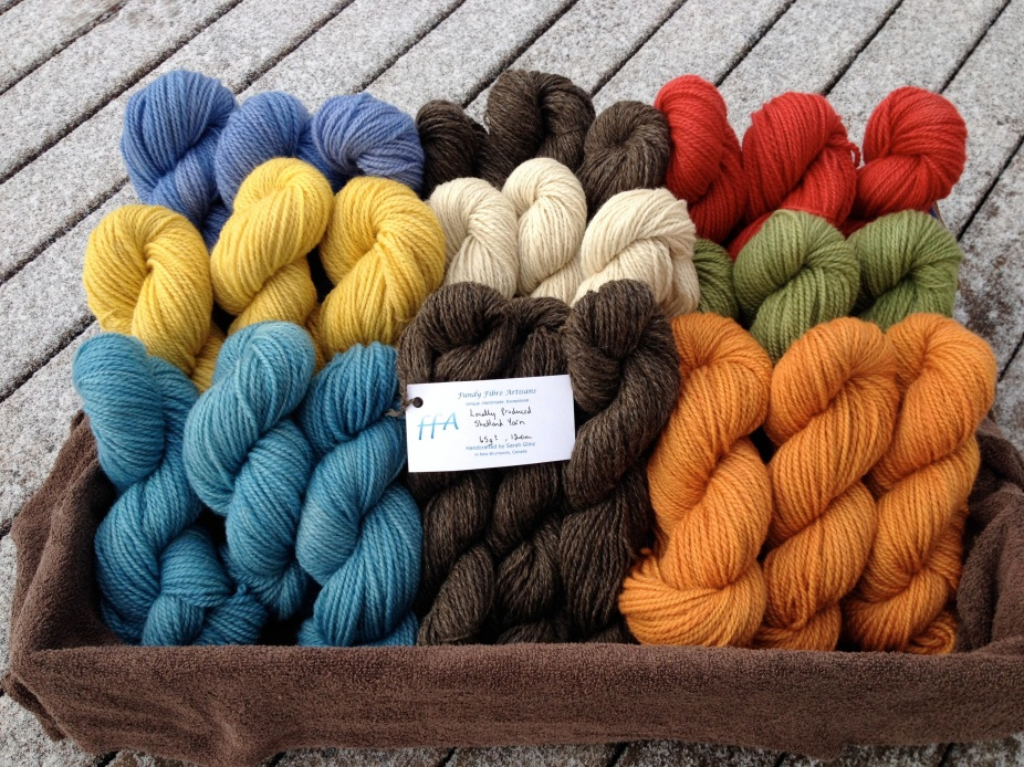 Millspun and hand-dyed Shetland wool